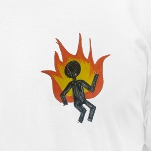 REEF BURNING MAN - Men's T-Shirt by American Apparel