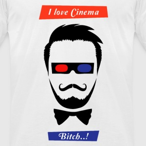 i love cinema... - Men's T-Shirt by American Apparel