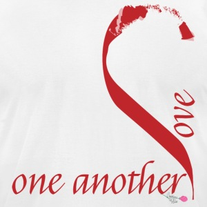 Love_one_another - Men's T-Shirt by American Apparel