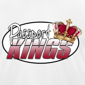 Passportkings white shirt design - Men's T-Shirt by American Apparel