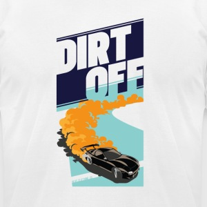 DIRT Off Car Racing tee - Men's T-Shirt by American Apparel