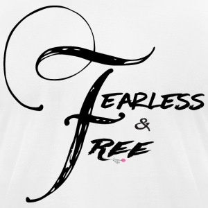 Fearless and Free2 Print - Men's T-Shirt by American Apparel