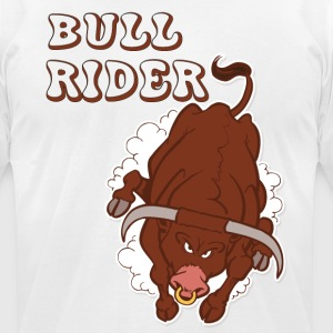 Bull Rider - Men's T-Shirt by American Apparel