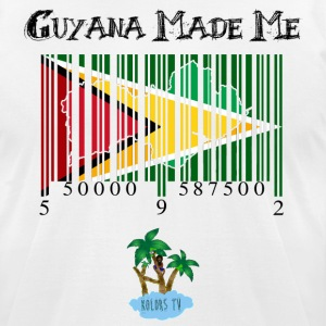 guyana made me black tex Recovered - Men's T-Shirt by American Apparel