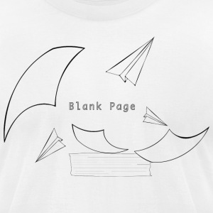 Blank Page Papers Flying - Men's T-Shirt by American Apparel