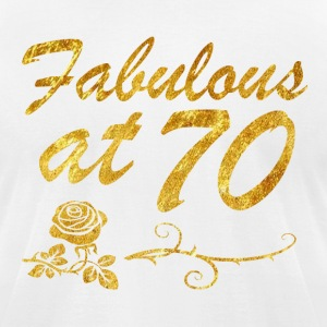 Fabulous at 70 years - Men's T-Shirt by American Apparel