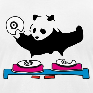 DJ Panda House Music - Men's T-Shirt by American Apparel