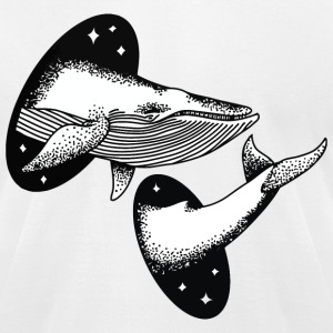 Whale Space Funny T-Shirt - Men's T-Shirt by American Apparel