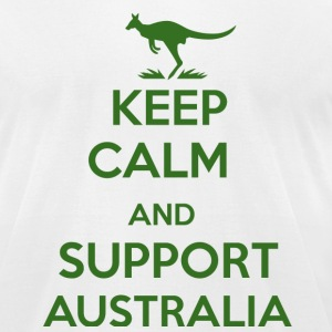 Keep Calm and support Australia - Men's T-Shirt by American Apparel
