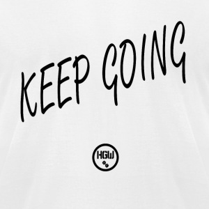 KEEP GOING - Motivation - Men's T-Shirt by American Apparel