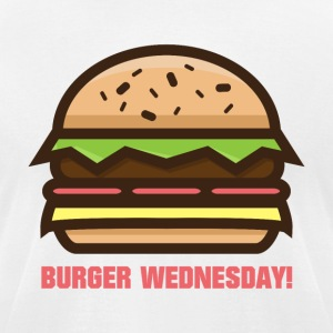 Burger Wednesday! - Men's T-Shirt by American Apparel