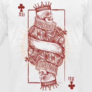Playing Card Skull - Men's T-Shirt by American Apparel