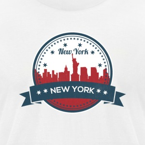 New York City Skyline - Men's T-Shirt by American Apparel