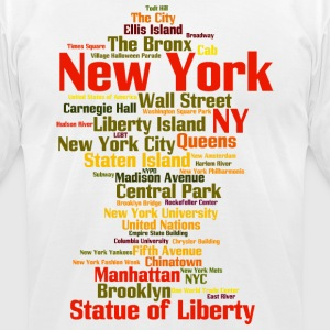 New York City (NY, NYC) - Men's T-Shirt by American Apparel