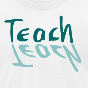 Teach Learn-Shadow design - Men's T-Shirt by American Apparel