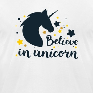 Believe in unicorn - Men's T-Shirt by American Apparel