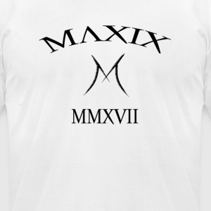 Official MAXIX MMXVII (2017) Brand Logo (Black) - Men's T-Shirt by American Apparel