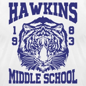 Hawkins Middle School 1983 Tiger - Men's T-Shirt by American Apparel