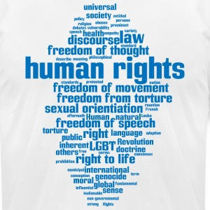 human rights - Men's T-Shirt by American Apparel