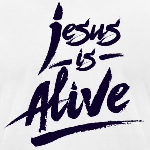 Jesus is Alive - Men's T-Shirt by American Apparel