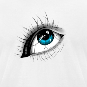 Broken Eye - Men's T-Shirt by American Apparel