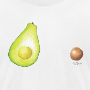 Colored Avocado and Seed T-shirt! - Men's T-Shirt by American Apparel