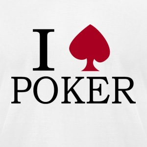 I love Poker - Men's T-Shirt by American Apparel