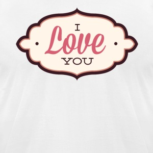 I Love You Valentine - Men's T-Shirt by American Apparel