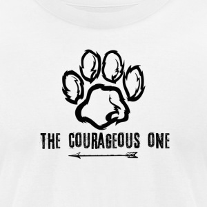 Bear: The Courageous One (Black) - Men's T-Shirt by American Apparel