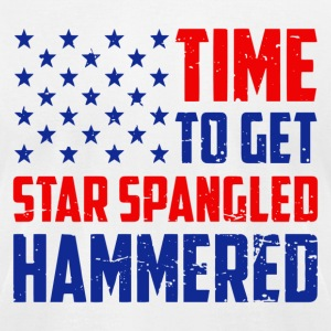 Time To Get Star Spangled Hammered - Men's T-Shirt by American Apparel