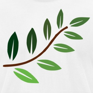 Beautiful Multi Shade Green Plant Branch - Men's T-Shirt by American Apparel