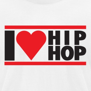 I LOVE HIP HOP - Men's T-Shirt by American Apparel