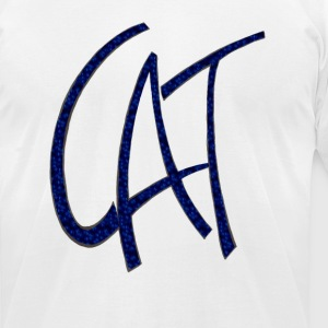 Dave The Cat Blue Logo - Men's T-Shirt by American Apparel