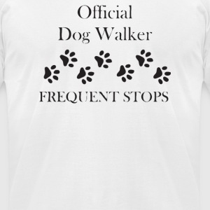 Official Dog Walker - Men's T-Shirt by American Apparel