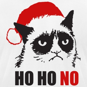 Grumpy Urly christmas cat - Men's T-Shirt by American Apparel