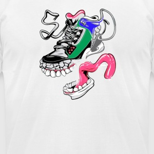 missing Piece monster shoes black - Men's T-Shirt by American Apparel