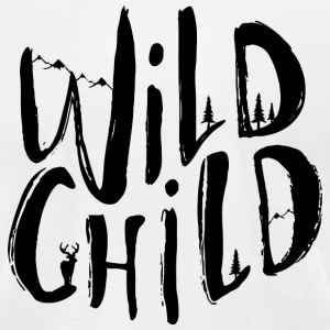 wild child black - Men's T-Shirt by American Apparel