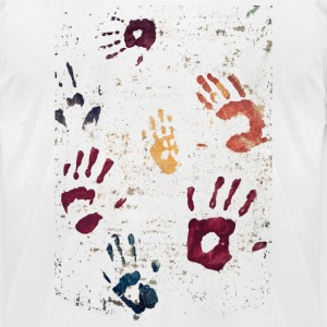 Hands paint - Men's T-Shirt by American Apparel