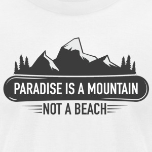 MOUNTAIN PARADISE - Men's T-Shirt by American Apparel