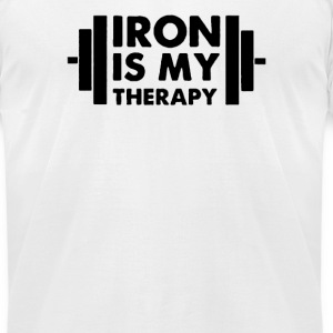 Iron is My Therapy - Men's T-Shirt by American Apparel