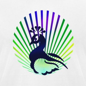 peacock - Men's T-Shirt by American Apparel