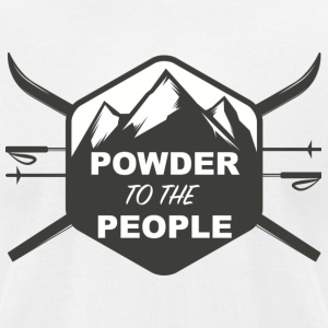 POWDER TO THE PEOPLE - Men's T-Shirt by American Apparel