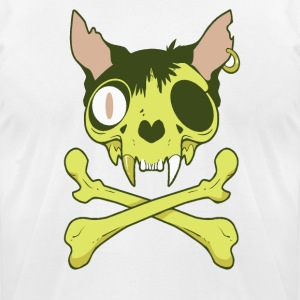 Kitty Krossbones - Men's T-Shirt by American Apparel