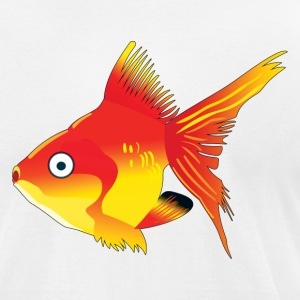 Orange Tropical Fish - Men's T-Shirt by American Apparel