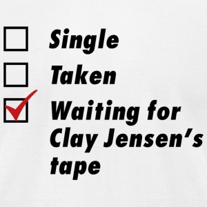 Waiting for Clay Jensen's tape - Men's T-Shirt by American Apparel