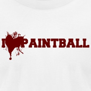 Paintball - i love paintball - Men's T-Shirt by American Apparel