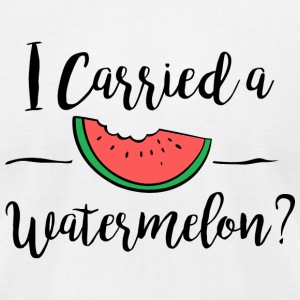 Watermelon - I carried a watermelon dirty dancin - Men's T-Shirt by American Apparel