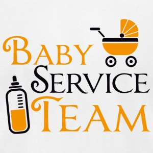 Baby - Baby service team - Men's T-Shirt by American Apparel