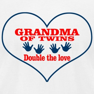 Grandma - GRANDMA OF TWINS DOUBLE THE LOVE - Men's T-Shirt by American Apparel