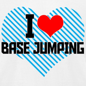 Jumping - i heart base jumping - Men's T-Shirt by American Apparel